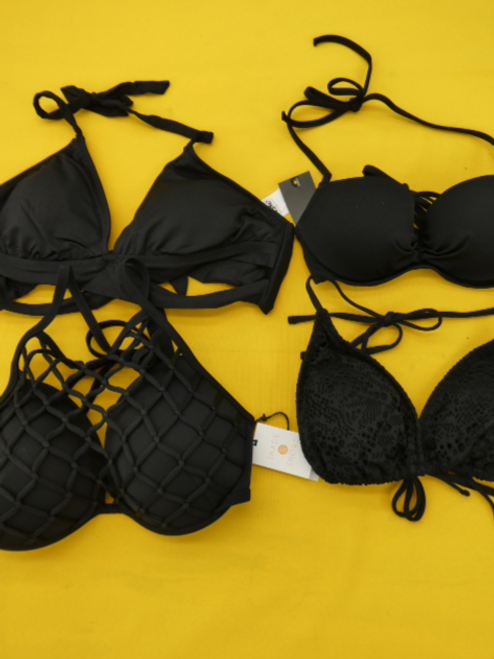 10pc $240 in BLACK Bikini Tops #16132K (d-1-4)