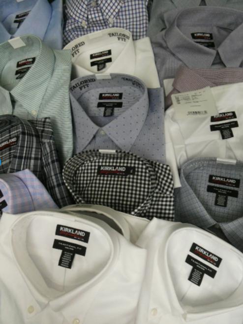 7pc MENS KIRKLAND Dress Shirts #16066BH (v-5-3)