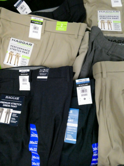 10pc MENS HAGGAR Pants #16079BH (M-5-6)