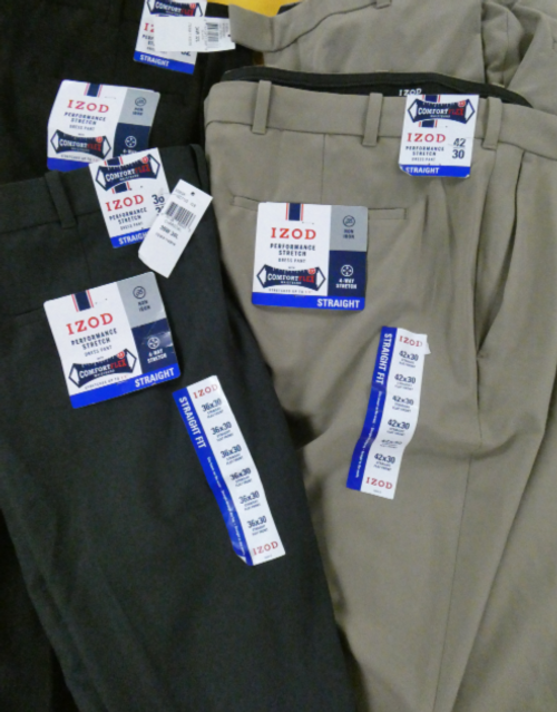 4pc MENS IZOD Pants #16081i (i-1-2)