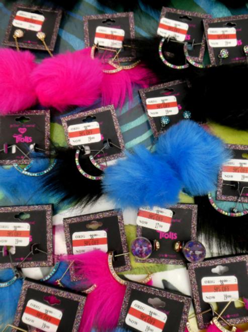 21pc $795 in Betsey Johnson Fur EARRINGS #16510H (f-4-5)