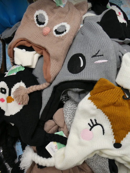 5pc Womens Animal Snow Hat SETS #16527H (G-5-2)