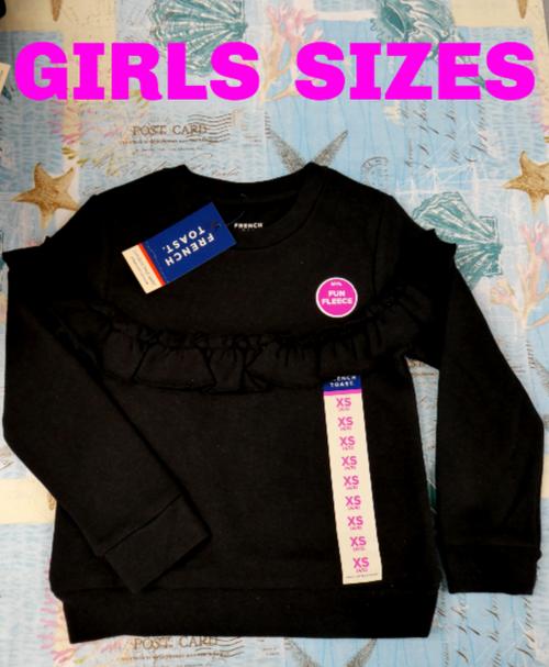6pc GIRLS French Toast FLEECE Sweatshirts #16569L (v-1-1)