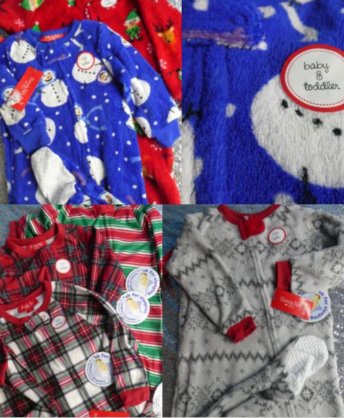 6pc Grab Bag BABY Onesie Sleepers FAMILY PJs #16641P (D-3-3)