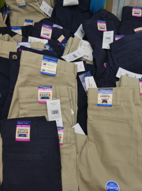 4pc KIDS French Toast SCHOOL PANTS #16688Y (J-1-5)