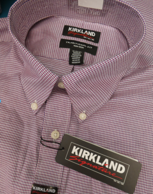 22pc MENS Kirkland Button-Up Shirts #16899Q (h-3-6)