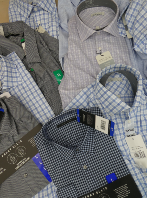 19pc $1,520 in MENS Perry Ellis Dress Shirts #16901Q (h-3-3)