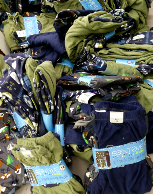 3 SETS = 6pc Grab Bag BOYS Fleece PJ Pants #16993V (p-1-3)