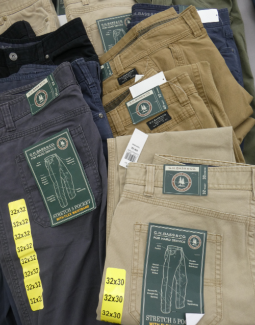 16pc MENS GH BASS PANTS #16872P (v-1-8)