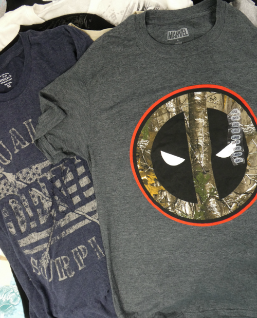 32pc MENS $3.99 Graphic Tees MARVEL & More #17098C (n-5-4)