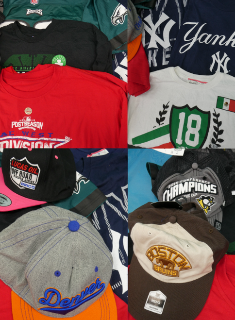 19pc MENS NFL MLB NHL Clothing #17164H (o-3-4)