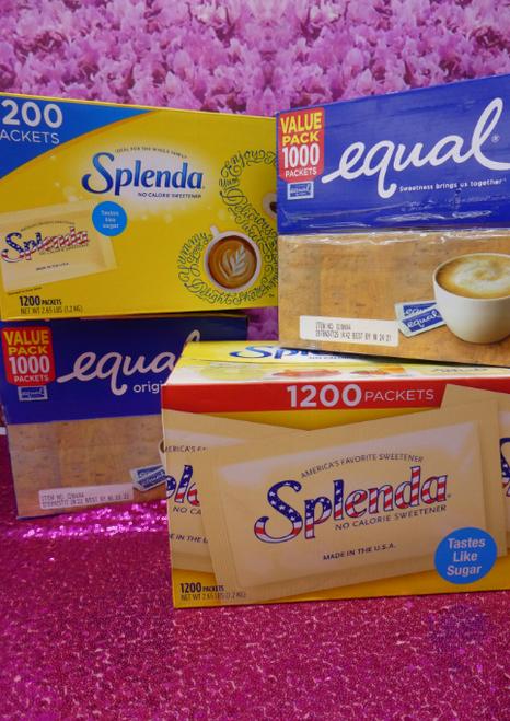 4 CASES = 4,400pc Splenda & Equal Sweetener #17193i (E-5-3)