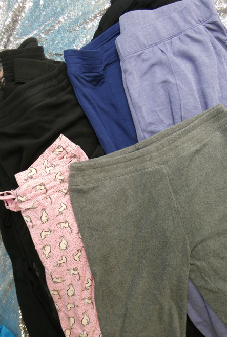 18pc CUDDL DUDS Fleece Leggings & SWEATPANTS #17398u (H-1-6)