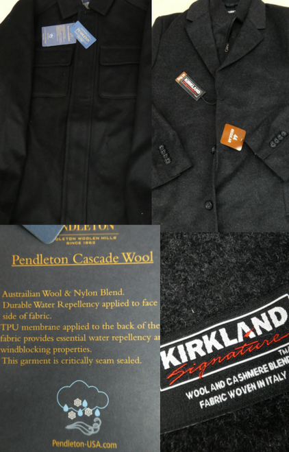 6pc MENS Pendleton & Kirkland WOOL COATS #17452Y (F-3-4)