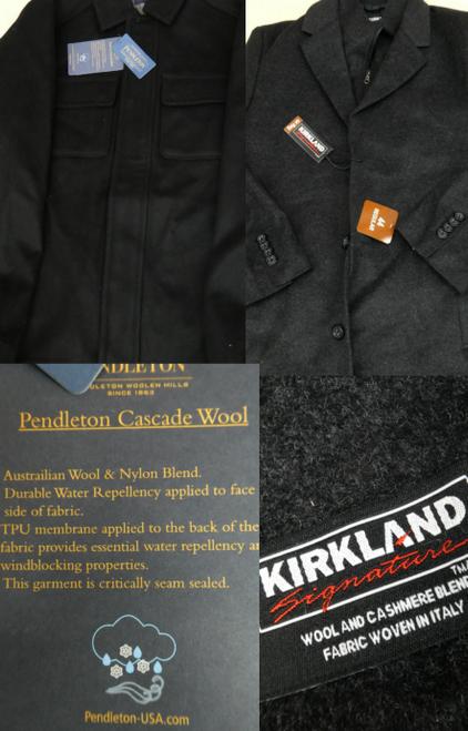 6pc MENS Pendleton & Kirkland WOOL COATS #17452Y (F-3-4)