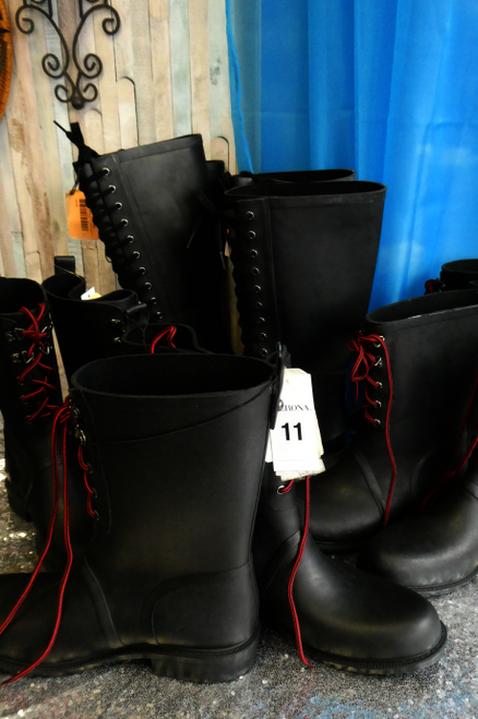 6 PAIRS Black WATERPROOF Womens BOOTS #17419w