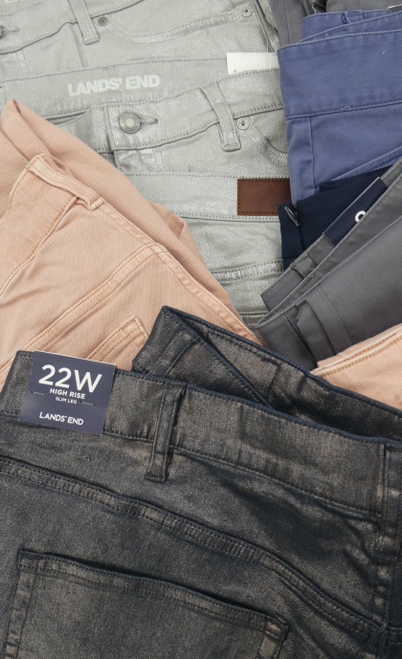 20pc $1,400 in LANDS END Womens JEANS & Pants #17677L (N-1-1)