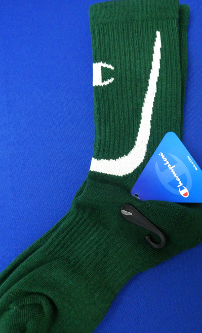 24 Pairs CHAMPION Sports Socks GREEN #17972w (E-5-3)