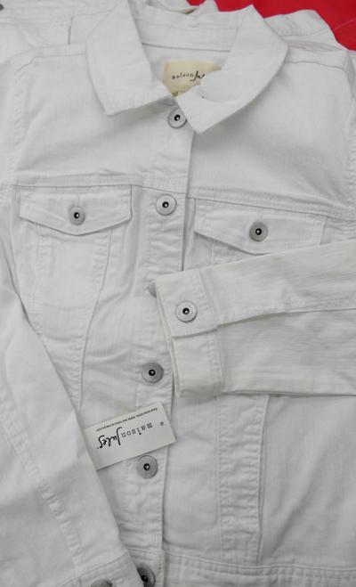 8pc $560 Maison Jules Jean Jackets WHITE #18039w (O-1-6)
