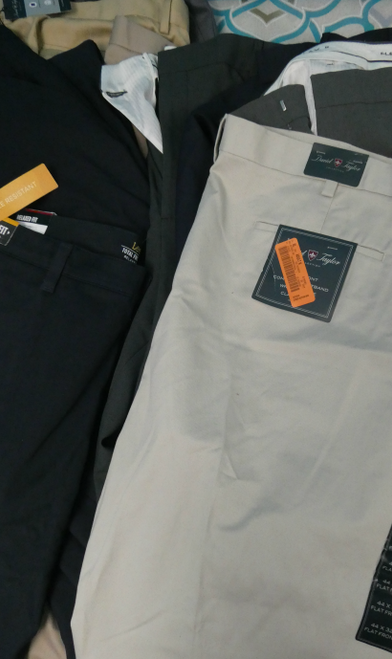 13pc MENS David Taylor LEE Slacks DRESS PANTS #18104A (G-5-4)