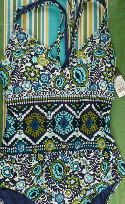 16pc Mossimo Floral One-Piece Bathing Suits XL #18121B (J-2-4)