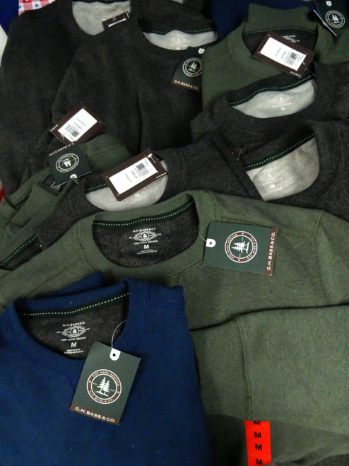 15pc MENS GH BASS Hard Service Sweatshirts MEDIUM #18330P (G-4-2)