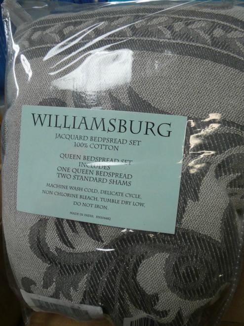 1 SET $200 WILLIAMSBURG 100% Cotton QUEEN Bedspread #18388w (G-5-5)