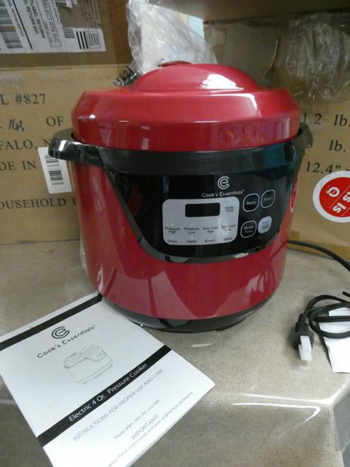 1pc Cooks Essentials 4QT Pressure Cooker RED #18393u ()