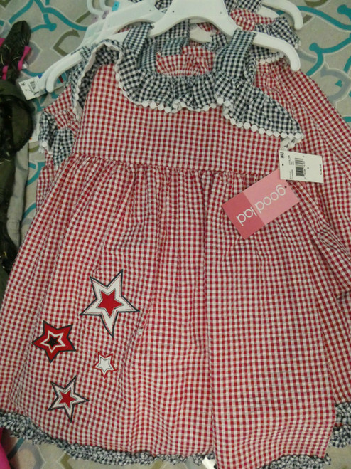 9pc $342 in Girls Plaid Dresses GOODLAD #18321x (N-3-5)