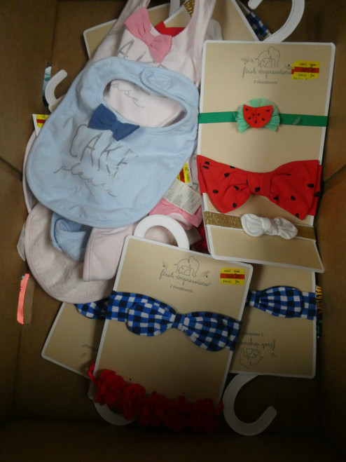 7+ Sets = 22 total Baby First Impressions Headbands & Bibs #18341z (G-3-3)