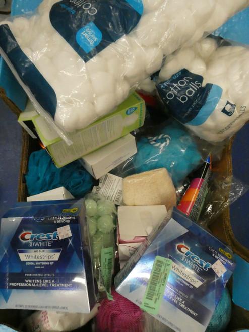 64+pc Bath Body Soap CREST WHITE STRIPS Shelf Pulls #18380C (TW)