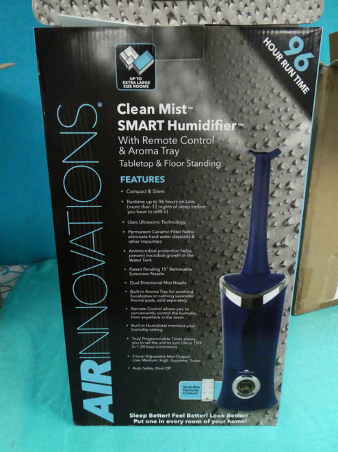 1 Air Innovations BLUE Humidifier +Aroma 96hr #18415E (P-5-7)