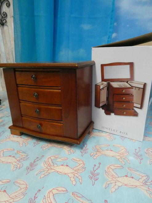 1pc $70 Wood Jewelry Box Mahogany Shelf Pull #18424E ()