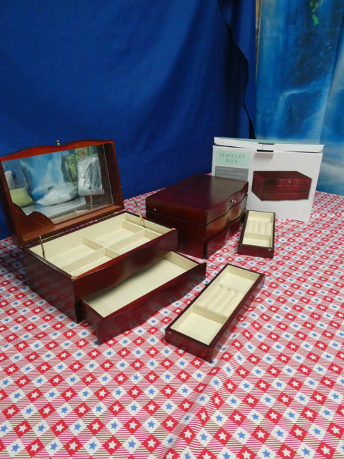2pc IMPERFECT Jewelry Boxes #18429E (N-3-2)