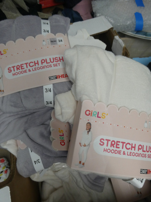12 Sets = 24pc Girls Fur SWEAT OUTFIT SETS Size 3/4 #18814J (TW)