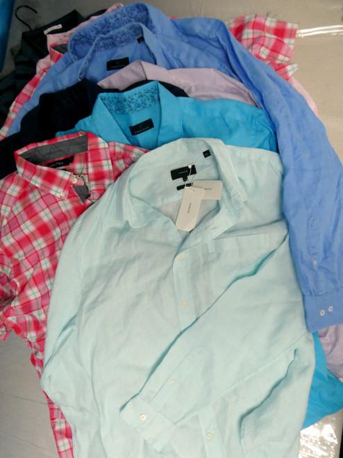 12+pc $1,570 in BIG STORE Mens Dress Shirts VINCE Toscano #19012A (Q-1-4)