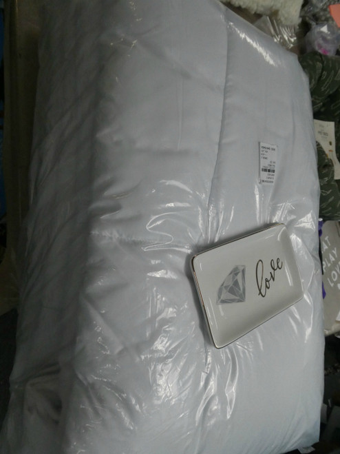 BIG STORE King Comforter + Jewelry Plate #19053d (Q-1-2)