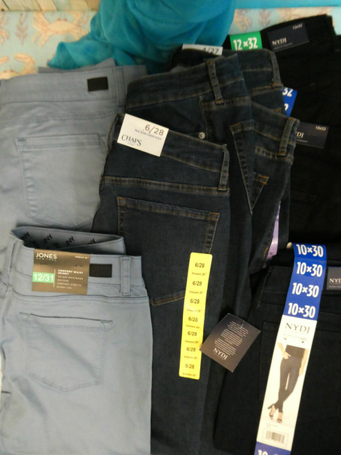 14pc Womens $8.99 Jeans CHAPS NJDJ Jones NY #19140J (G-3-5)