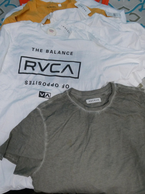 12pc PACSUN Young Mens Tees & Tanks RVCA #19448H (P-4-2)