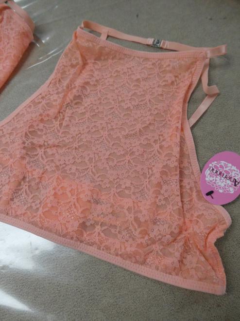 18pc Peach High Neck Lace Bras DUPLICATES S M L #19486M ()