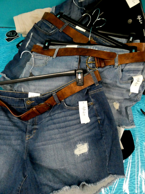 15pc PLUS SIZE Shorts & Belted Short Sets #19727F (J-3-5)