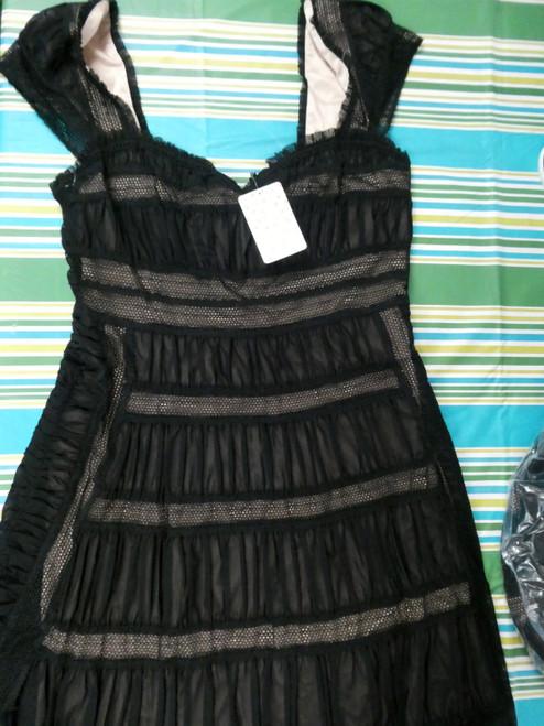 24pc FREE PEOPLE Dresses - Black Lace #19826M (F-1-4)