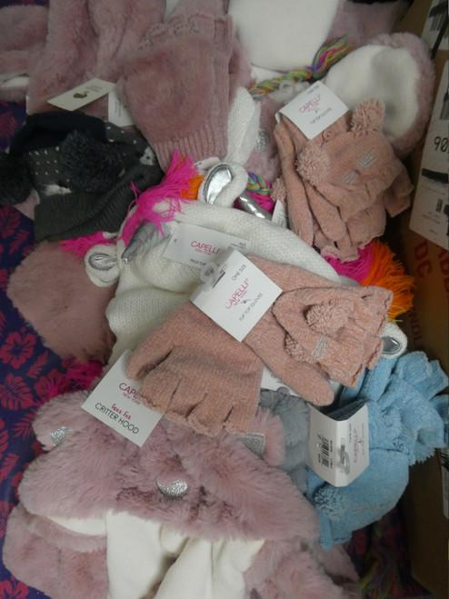 23pc KIDS CAPELLI Winter Accessories Hats & Gloves #19861Q (P-2-2)
