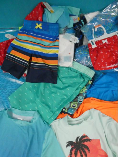38pc BOYS Swim Shirts and Trunks HUSKY & More #19867R (M-2-4)