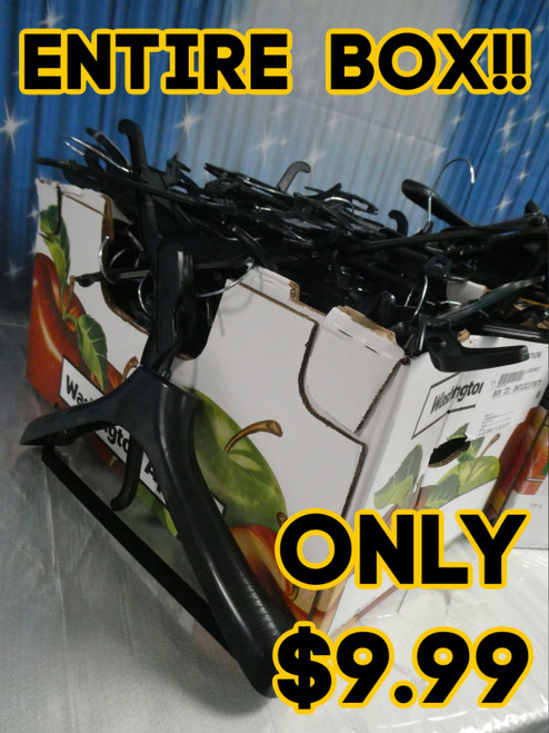 ***PICKUP ONLY!***Entire Box of  BLACK Hangers (100-200pc) #20229Y ()