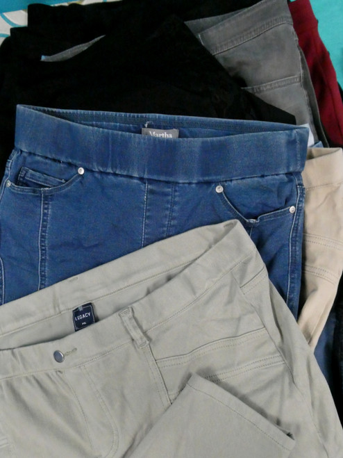 44pc QVC Womens Jeans Leggings Pants #20233Y (L-5-4)