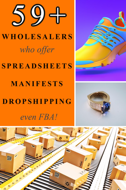 59+ Wholesalers with UPCS Spreadsheet Databases & Dropshipping List