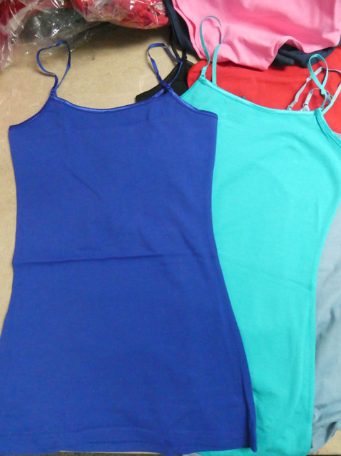 48pc Juniors Tanks Cotton Spandex ~ 8 COLORS! #20358H ()