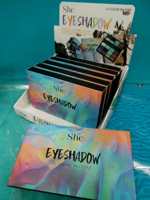 24+pc SHE 12-Shade Eye Shadow Palettes + DISPLAY #20380J ()