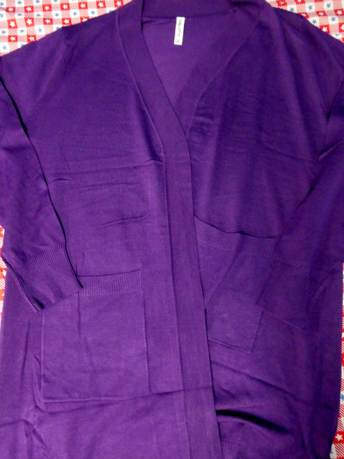 12pc PLUS SIZE True Purple Womens Cardigans #20389J ()